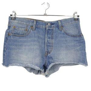 Levis 501 Cutoff Button Fly High Waist Shorts